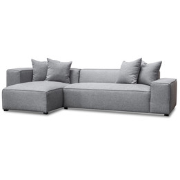 CLC2850-CA 2 Seater Left Chaise Sofa - Graphite Grey (cf)