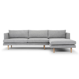 CLC2864-FA 3 Seater With Right Chaise Sofa - Graphite Grey with... (cf)