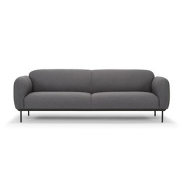 CLC2873-FA 3 Seater Sofa - Antrazite with Black Steel Legs (cf)
