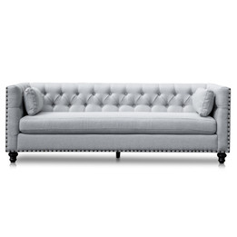 CLC2882-CA 3 Seater Sofa - Light Grey Texture (cf)