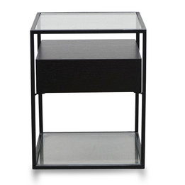 ST2671-IG Scandinavian Side Table - Full Black (cf)