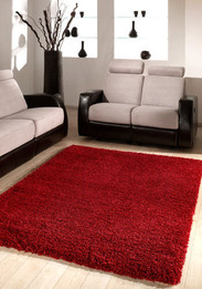 Kensington Shag Rug - Red (ux)