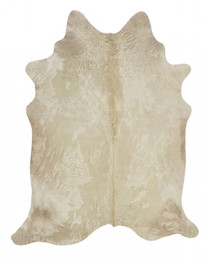 Exquisite Natural Cow Hide Champagne (ux)