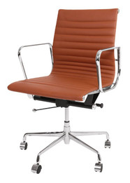 Replica Eames Group Standard Aluminium Office Chair #CF-035-Tan Italian Leather