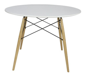 Replica Eames DSW Medium Dining Table - 100cm - White Top
