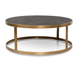 CCF2794-NI - Coffee Table - Black - Golden Base (cf)