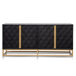 CDT2922-NI 1.78m Sideboard - Black Wood with Gold Handle (cf)