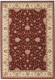 Stunning Formal Classic Design Rug Red (ux)