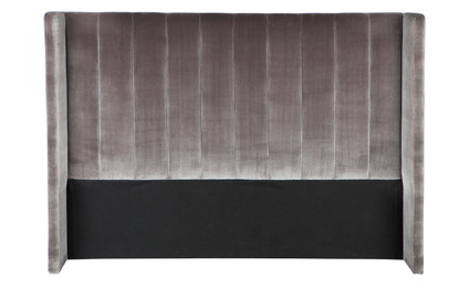 Central Park Winged Queen Headboard - Charcoal (cl)