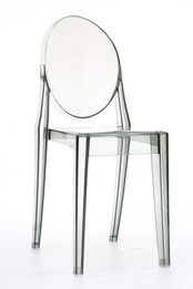 Replica Victoria Ghost Chair - Transparent Grey/Smoke