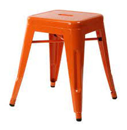 Replica Tolix Stool  - Orange 45 cm