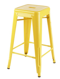 Replica Tolix Stool - Yellow 65 cm