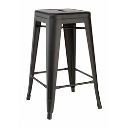 Replica Tolix Stool - Matte Black 65cm