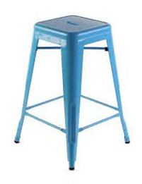 Replica Tolix Stool - Light Blue 65 cm