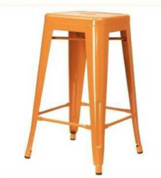Replica Tolix Stool - Orange 65 cm