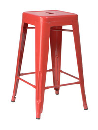 Replica Tolix Stool - Red 65 cm