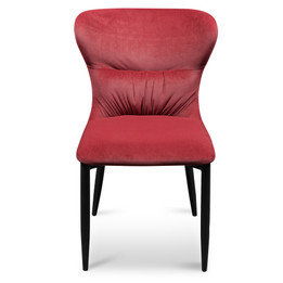 CDC6116-ST Dining Chair - Ruby Red Velvet with Black Legs (cf)