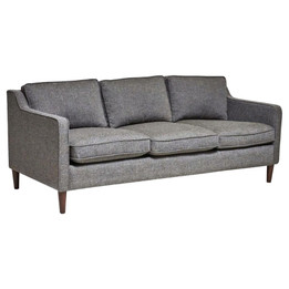 Norse 3 Seater Sofa - Tweed Grey Fabric