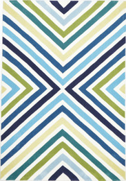 Cross Roads Design Rug Blue Green (ux)