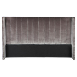 Central Park Winged King Headboard - Charcoal (cl)