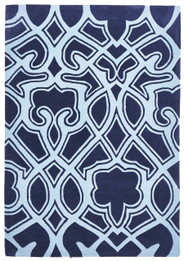 Gothic Tribal Design Rug Navy (ux)