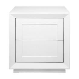 Balmain Tall Bedside Table - White (cl)