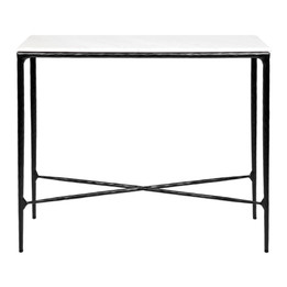Heston Marble Console Table - Small Black (cl)