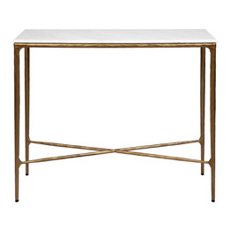 Heston Marble Console Table - Small Brass (cl)