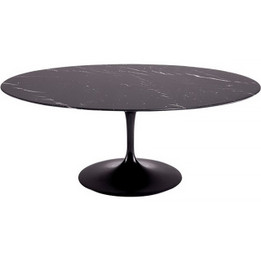 Replica Tulip Dining Table - Black Nero Marquina Marble - All Sizes - Pre-Order & Save