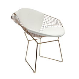 Replica Harry Bertoia Diamond Chair - Rose Gold + Back Cushion - various colour cushions