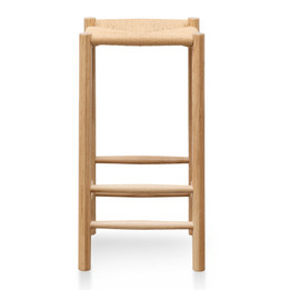CBS2977-OW 65cm Oak Bar Stool - Natural (cf)