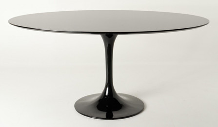 Replica Tulip Table - Black MDF - Oval 160cm