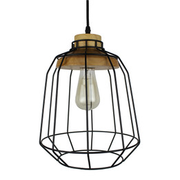 Industry Iron Wood Lamp