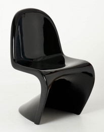 Ex Display - Replica Panton Chair - Fibreglass - Black - CLEARANCE