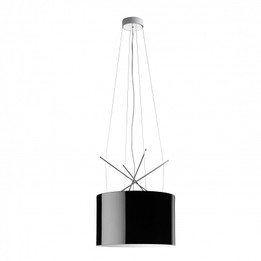 Replica Ray S Suspension Lamp - Flos - black