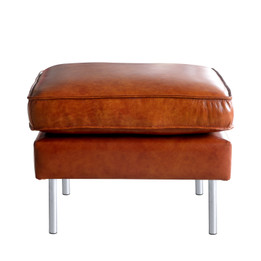 Axel Sofa Footstool in Vintage Leather