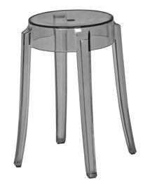 Replica Charles Ghost Stool 46cm - Transparent Grey/Smoke