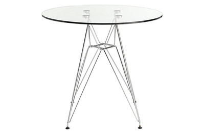 Replica Eames DSR Dining Table - Glass Top - 70cm
