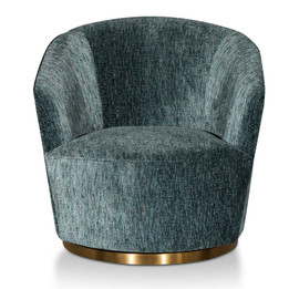 Fredric Fabric Lounge Chair - Emerald Green (cf)