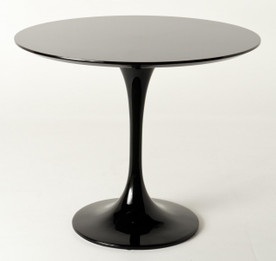 Replica Tulip Table - Black Fiberglass - 100cm