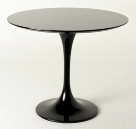 Ex Display - Replica Tulip Table - Black Fiberglass - 120cm - CLEARANCE