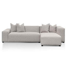 CLC6533-CA 3 Seater Right Chaise Fabric Sofa - Sterling Grey (cf)