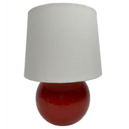Ceramic Ball Table Lamp - Red