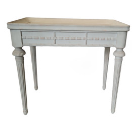Console Table  Solid Timber - Distressed Blue