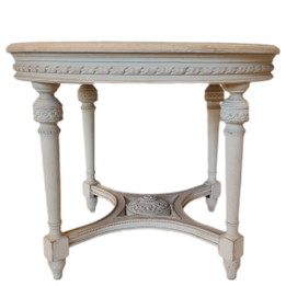 Hubert Round Side Table - Off white