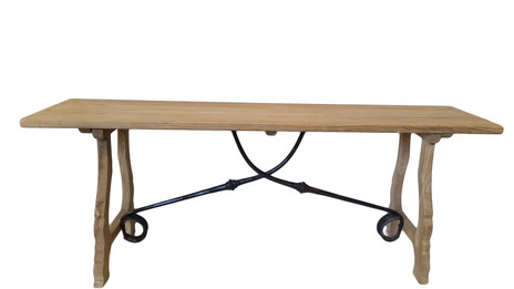 Provincial Wooden Bench - Solid Natural Timber