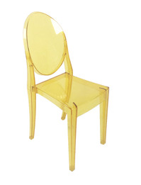 Ex Display - Replica Victoria Ghost Chair - Transparent Yellow - CLEARANCE
