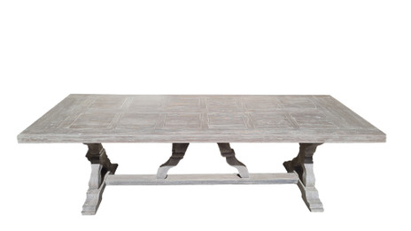 Rustic Wooden Table - 2.6m - white washed