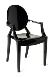 Replica Louis Ghost Chair - Solid Black