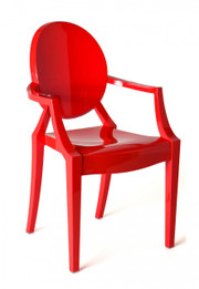 Replica Louis Ghost Chair - Solid  Red